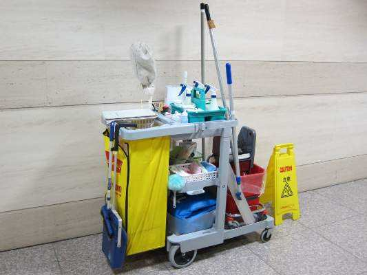 professional janitorial service uses proper equipment and commercial grade chemicals