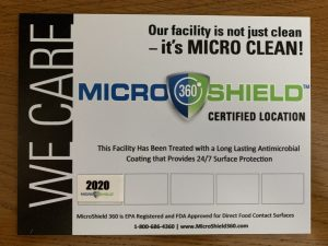 Microshield 360 Certified Location Plaque